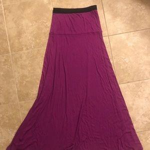 BCBG XS magenta maxi skirt